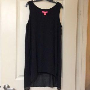 NWT Black chiffon dress